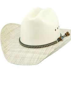 Justin Men's Parshall Tex Straw Western Cowboy Hat , Natural, hi-res