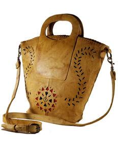 Kobler Leather Women's Amarillo Basket Bag, Tan, hi-res
