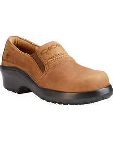 Ariat Women's Brown Expert Safety Clogs - Composite Toe, Brown, hi-res
