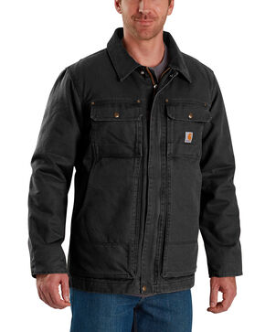 Carhartt Men's Full Swing Traditional Coat , Black, hi-res
