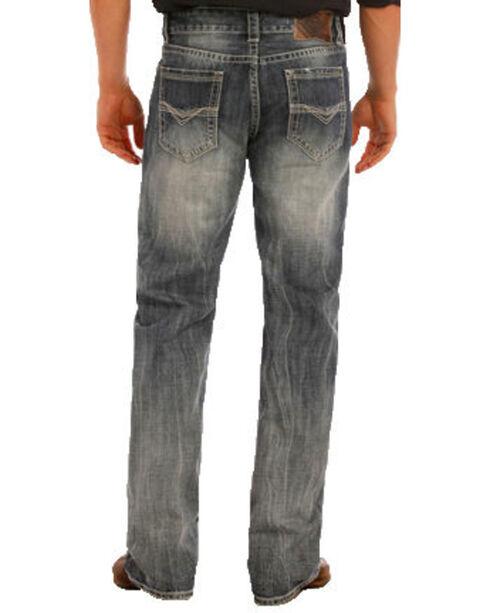 """Rock & Roll Cowboy Men's Indigo Double Barrel Small """"V"""" Jeans - Straight Leg , Indigo, hi-res"""