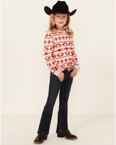 Cruel Girl Little Girls' Dark Stonewash Trousers, Indigo, hi-res