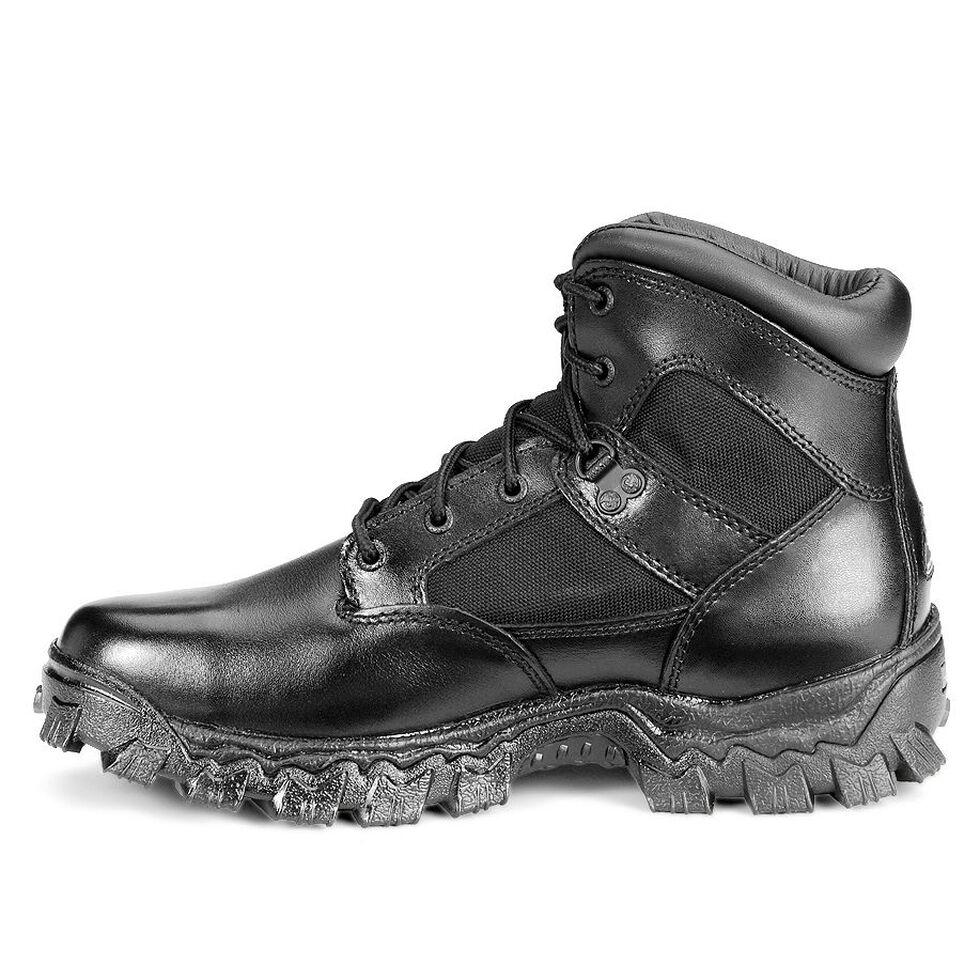 "Rocky 6"" AlphaForce Lace-up Waterproof Duty Boots, Black, hi-res"