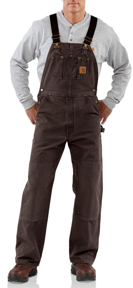 cheapest sale arrives great fit Carhartt Unlined Sandstone Bib Overalls