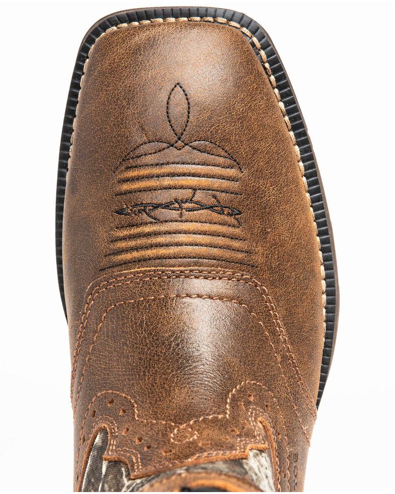 Cody James Men's Xero Gravity Lite Camo Western Work Boots - Composite Toe, Brown, hi-res