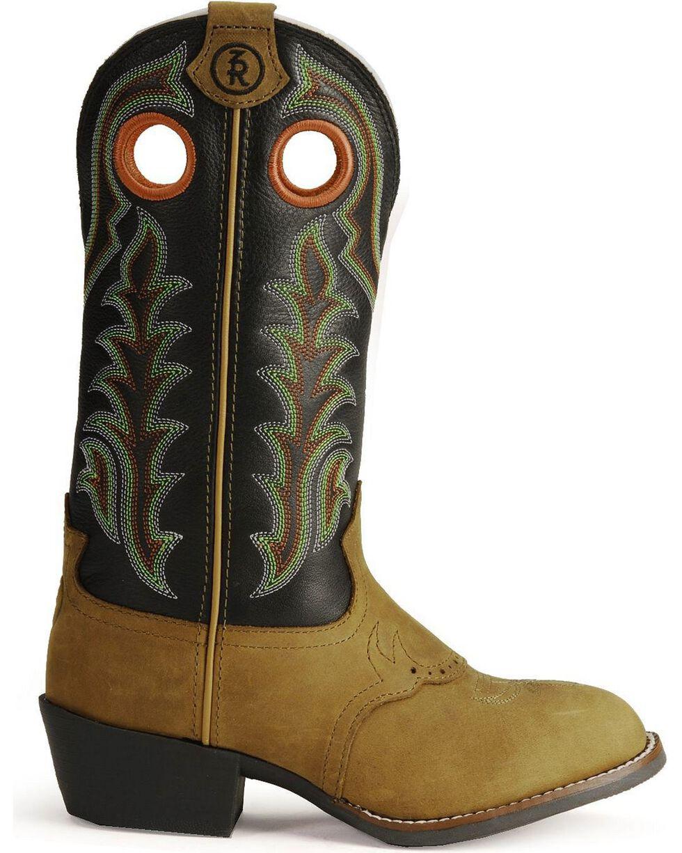 Tony Lama Youth Boys'  3R Cowboy Boots - Round Toe, Crazyhorse, hi-res