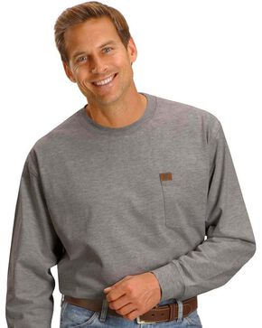 Wrangler Riggs Workwear Pocket Tee, Charcoal Grey, hi-res