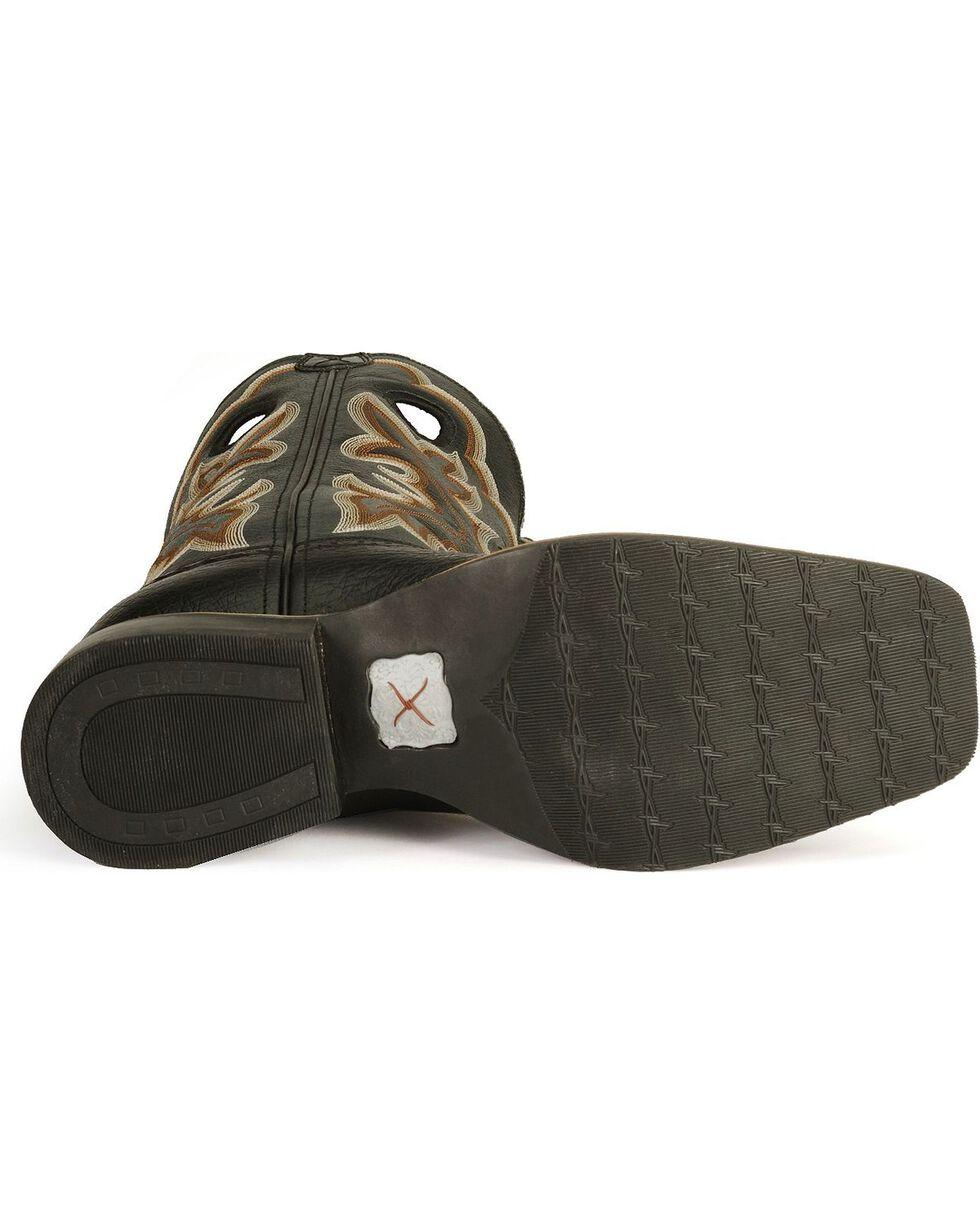Twisted X Men's Ruff Stock Shoulder Cowboy Boots - Square Toe , Black, hi-res