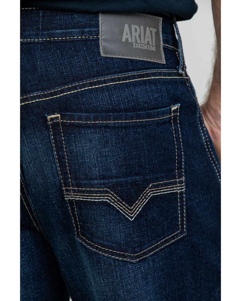 Ariat Men's M2 Nightingale Relaxed Stretch Bootcut Jeans , Blue, hi-res