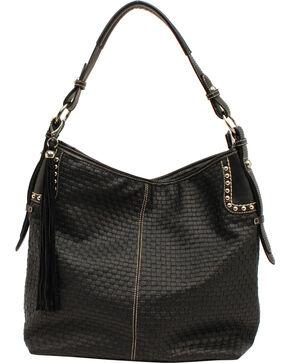 Blazin Roxx Women's Basketweave Shoulder Bag, Black, hi-res