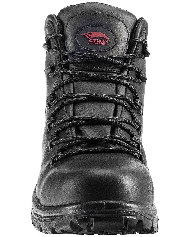 Plain Waterproof Work Boots - Soft Toe