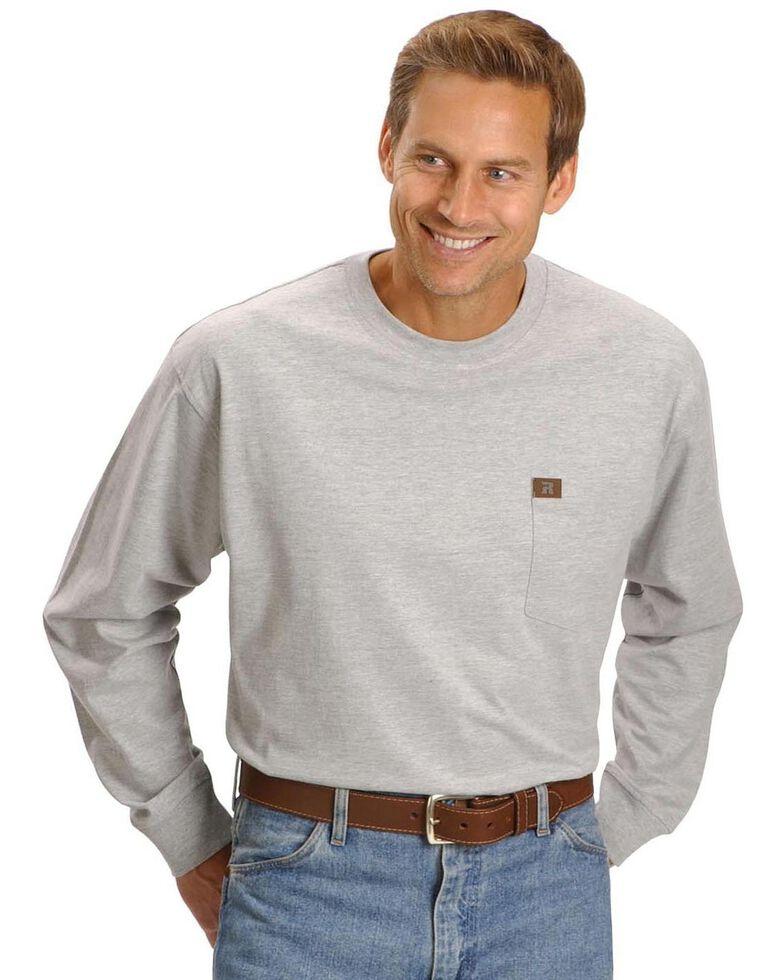 Wrangler Riggs Workwear Pocket Tee - Big, Tall, Big/Tall, Ash Heather, hi-res