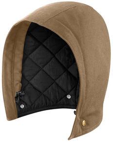 Carhartt Men's Solid Quilt Lined Sandstone Insulated Hood , Brown, hi-res