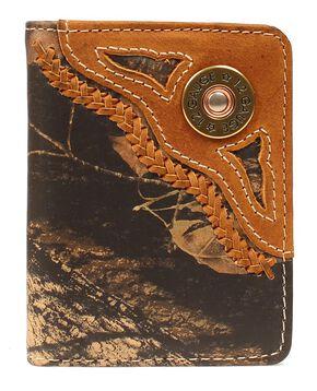 Nocona Mossy Oak 12 Gauge Shell Bi-Fold Wallet, Camouflage, hi-res