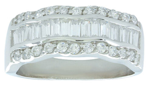 Montana Silversmiths Women's River of Light Ring, Silver, hi-res