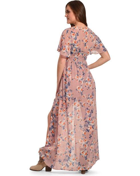 Flying Tomato Women's Floral Print Chiffon Maxi Dress, Blush, hi-res