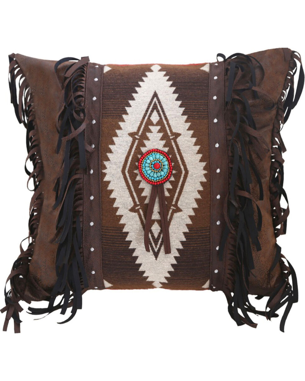 Carstens Pecos Trail Medallion Pillow, Brown, hi-res