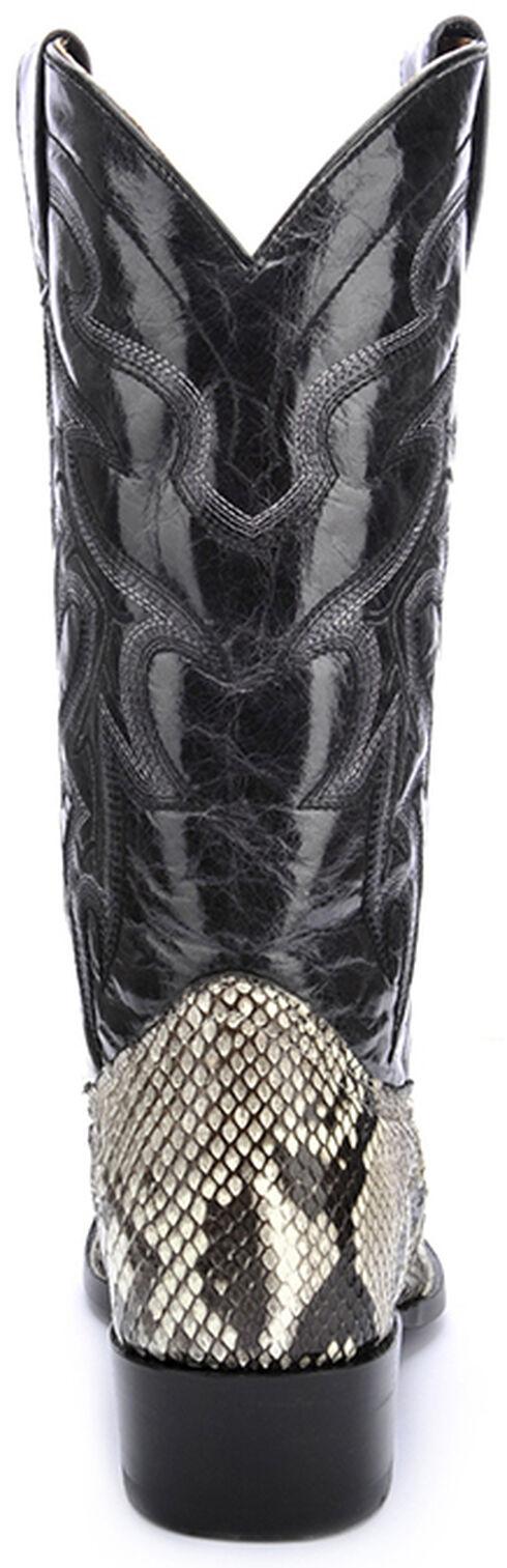 Circle G Natural Belly Cut Python Cowboy Boots - Round Toe, Natural, hi-res