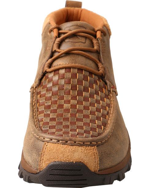 Twisted X Men's Basketweave Hiker Shoes - Moc Toe, Brown, hi-res