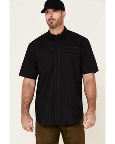 Ariat Men's Solid Black Tek Outbound Short Sleeve Button-Down Western Shirt , Black, hi-res
