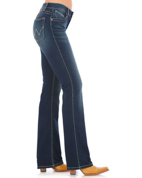 Wrangler Women's Q-Baby Dark Wash Ultimate Riding Jeans - Boot Cut, Indigo, hi-res