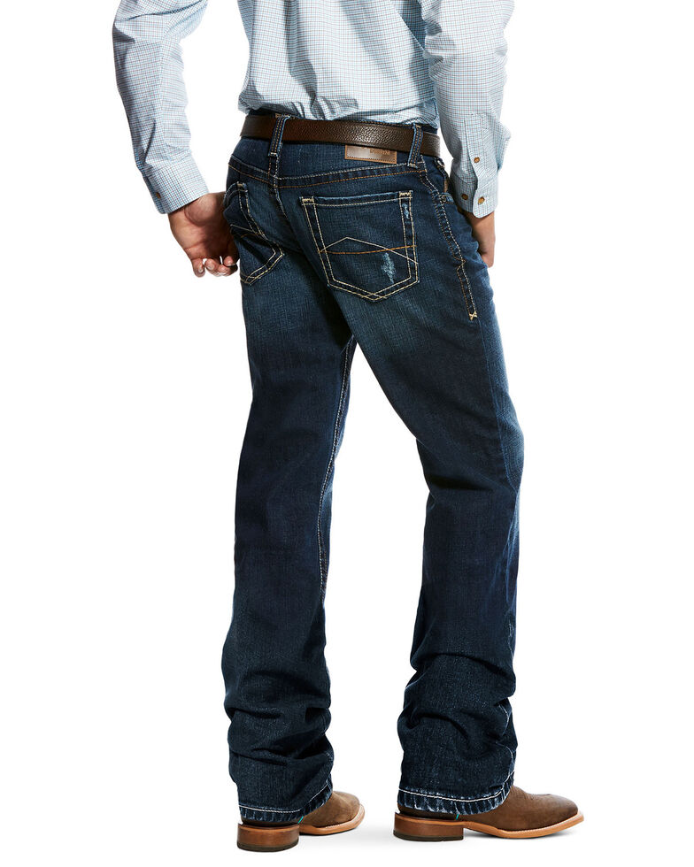 Ariat Men's M2 Mission Relaxed Boot Jeans , Indigo, hi-res
