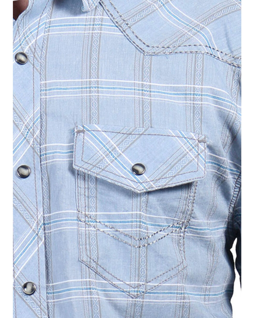 Moonshine Spirit Men's El Cortez Plaid Long Sleeve Shirt, Light/pastel Blue, hi-res