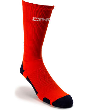 Cinch Men's Performance Crew Socks, Purple, hi-res