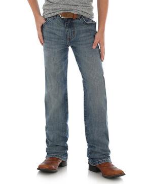 Wrangler Retro Boys' Callahan Stretch Slim Straight Jeans , Blue, hi-res