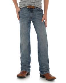 a41378433 Wrangler Retro Boys Callahan Stretch Slim Straight Jeans , Blue, hi-res