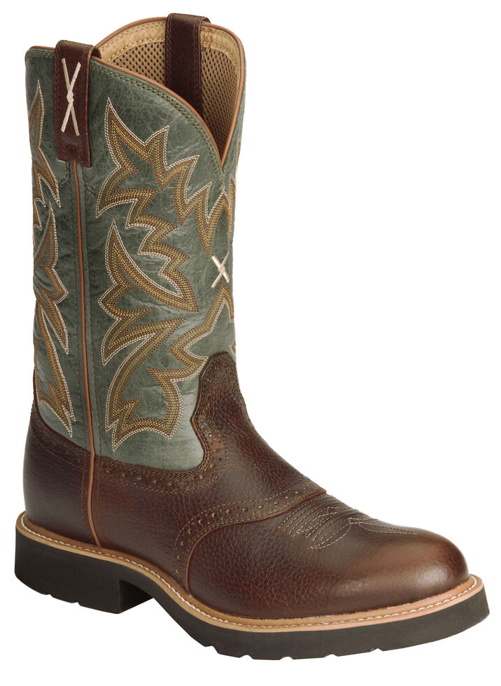 Twisted X Pullon Work Boot - Round Toe, Cognac, hi-res