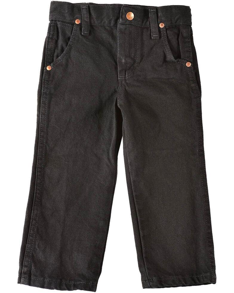 Wrangler Toddler Boys' Cowboy Cut Jeans - Black  - 1T-3T, Black, hi-res