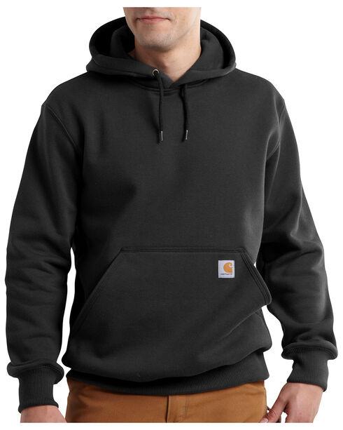 Carhartt Rain Defender Paxton Heavyweight Hooded Sweatshirt, Black, hi-res