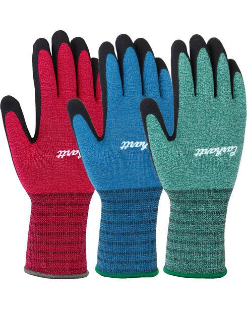 Carhartt Women's 3-Pack Nitrile Dipped Gloves , Multi, hi-res