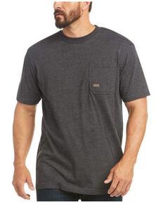 Ariat Men's Charcoal Rebar American Raptor Back Graphic Work T-Shirt - Big , Charcoal, hi-res