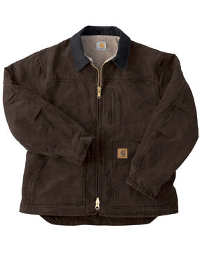 Carhartt Sandstone Ridge Work Coat - Big & Tall, Dark Brown, hi-res