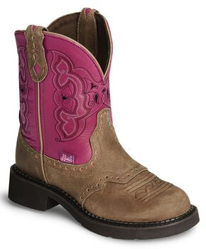 Justin Gypsy Distressed Western Boots, Brown, hi-res