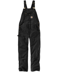 Carhartt Men's Black Duck Bib Work Overalls  , Black, hi-res