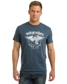 Wrangler Men's Eagle Logo Graphic T-Shirt , Navy, hi-res