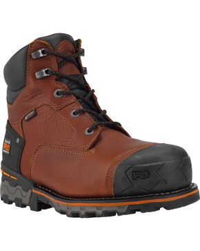 "Timberland PRO Men's Boondock 6"" Waterproof Insulated Work Boots - Composite Toe, Brown, hi-res"