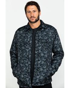 Moonshine Spirit Men's Camo Trooper Ripstop Quilted Shirt Jacket , Black, hi-res