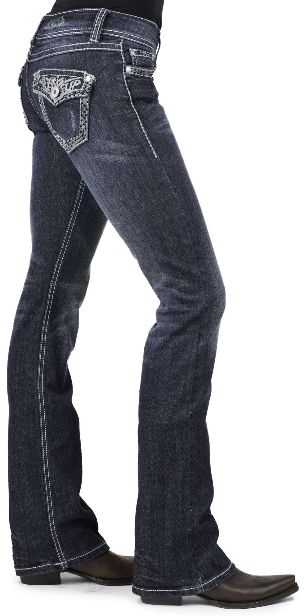 Stetson Women's 818 Fit Contemporary Contrast Stitch Bootcut Jeans - Plus, , hi-res