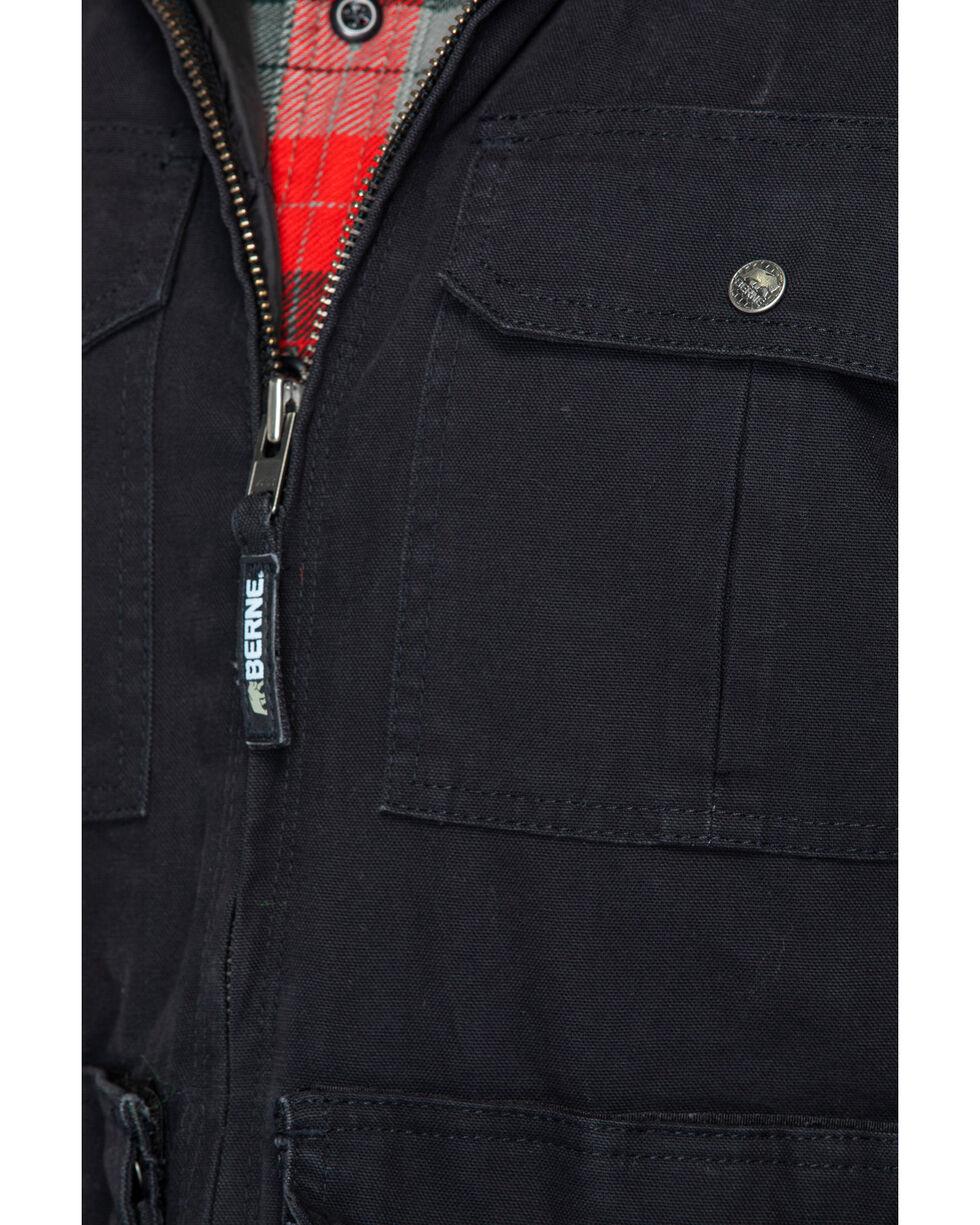 Berne Mens Black 100/% Cotton Echo One Zero Vest
