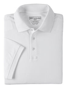 5.11 Tactical Jersey Short Sleeve Polo - 3XL, White, hi-res