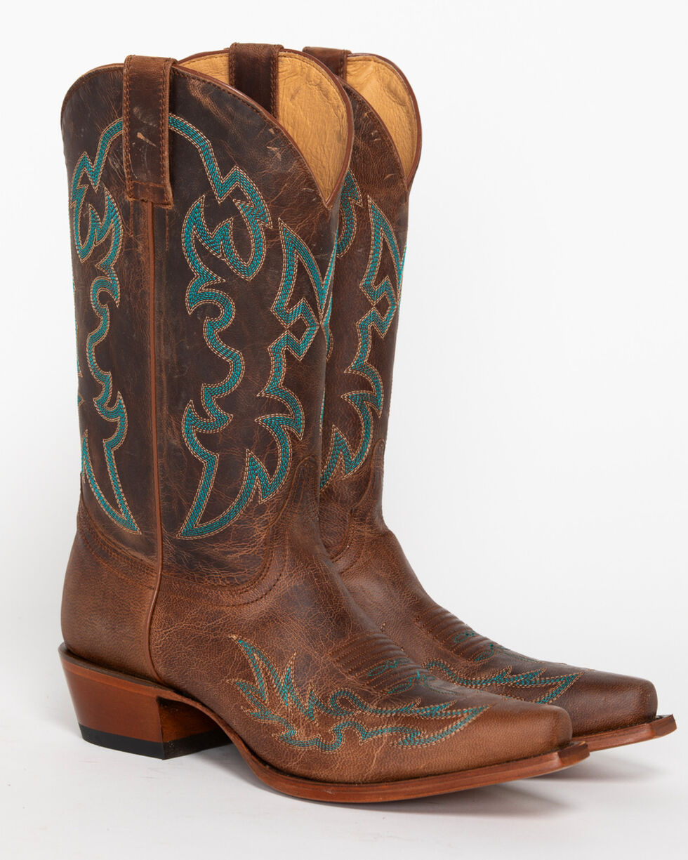 Shyanne Women's Mad Cat Embroidery Western Boots - Snip Toe, Brown, hi-res