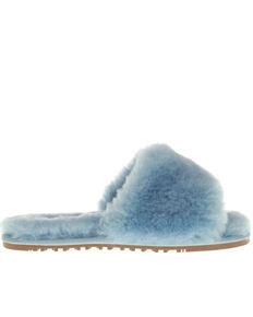 Lamo Women's Naomi Sheepskin Sandals, Light Blue, hi-res