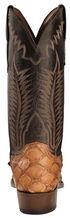 Lucchese Handmade Cognac Murphy Pirarucu Cowboy Boots - Narrow Square Toe , Cognac, hi-res