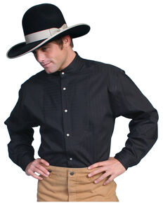 WahMaker By Scully Diamond Dobby Shirt, Black, hi-res
