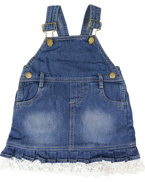 Shyanne Infant Girls' Bib Overalls, Blue, hi-res