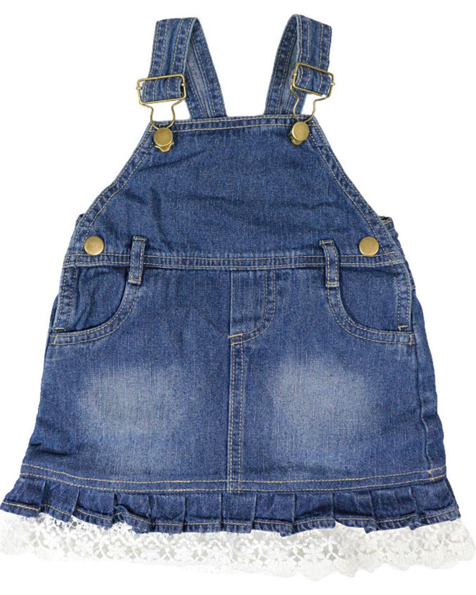 Shyanne Infant Girls' Bib Overalls, Blue, hi-res